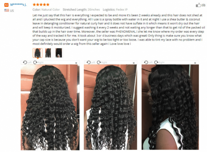 review on aliexpress hair wig