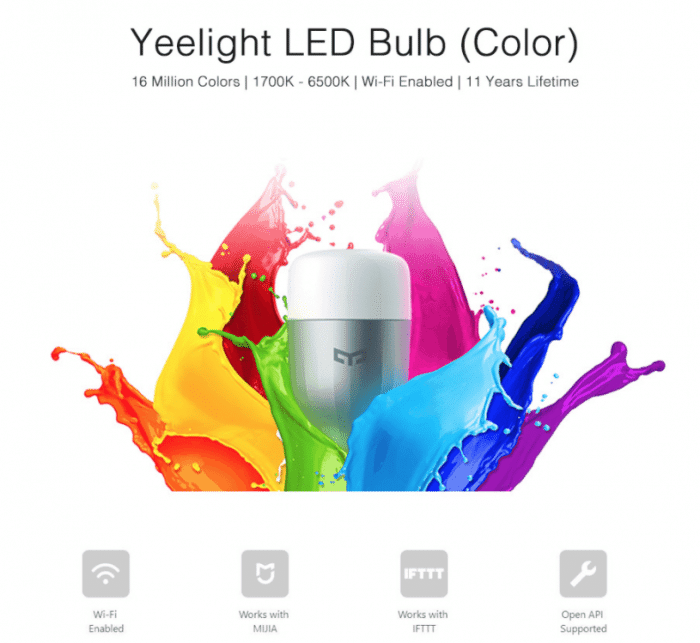 Original Xiaomi Yeelight II Smart LED Bulb