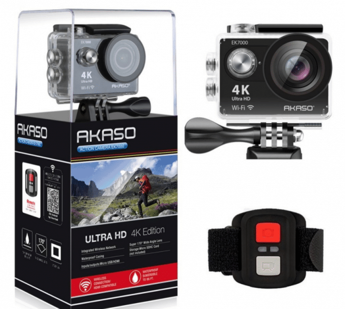 aSAKASO EK7000 4K WIFI Outdoor action Camera
