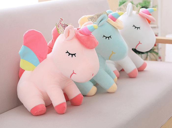 cute plush toy unicorn