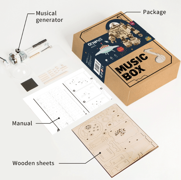 robotime gift music box