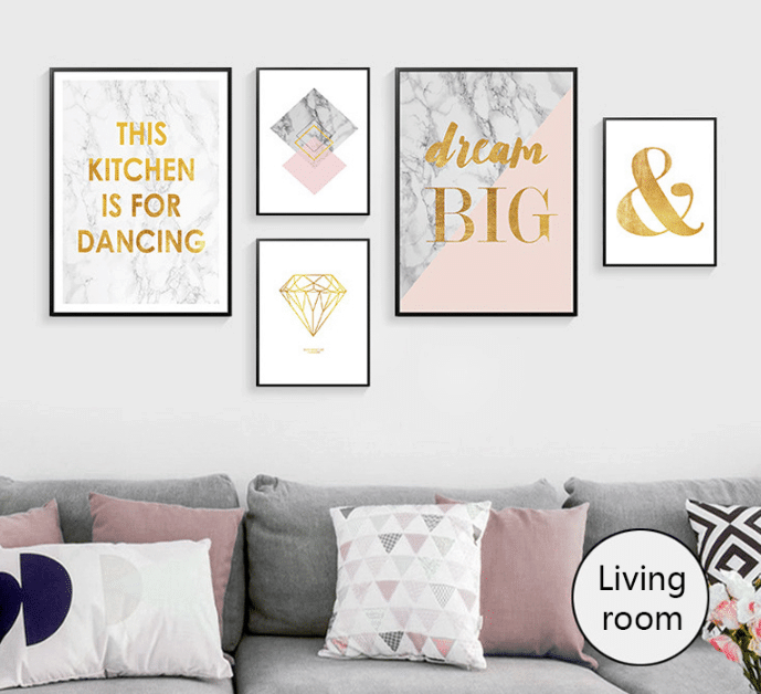 Living Room Marvel Nordic Wall Art Pictures
