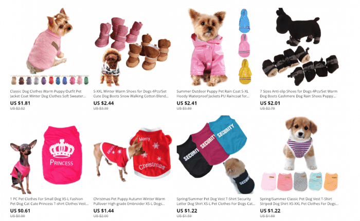 aliexpress dog clothing store