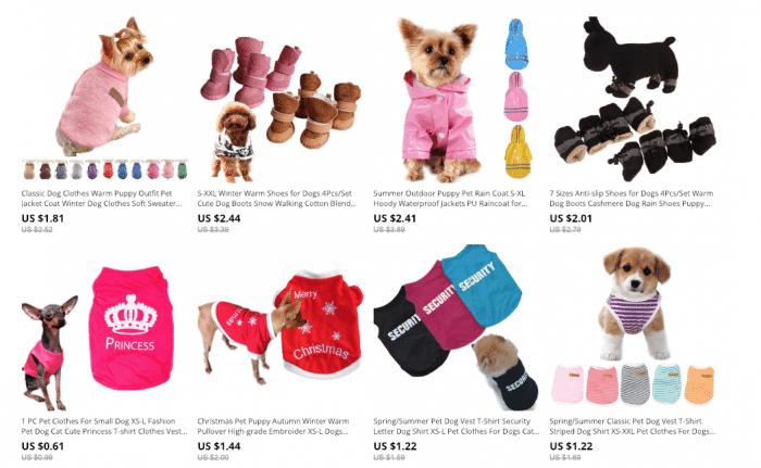 aliexpress dog clothing store