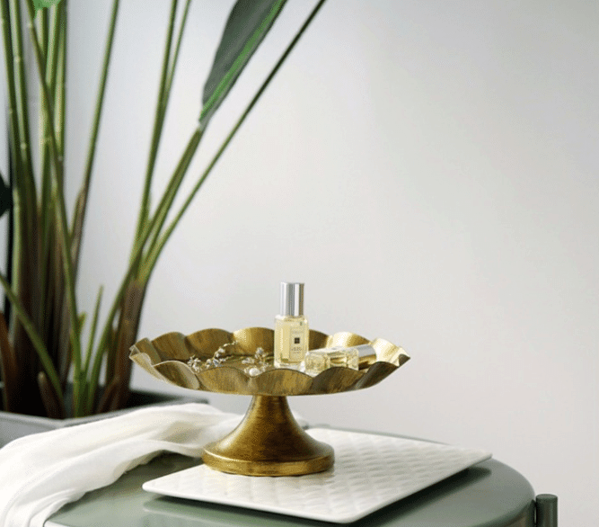gold plated jewelry plate