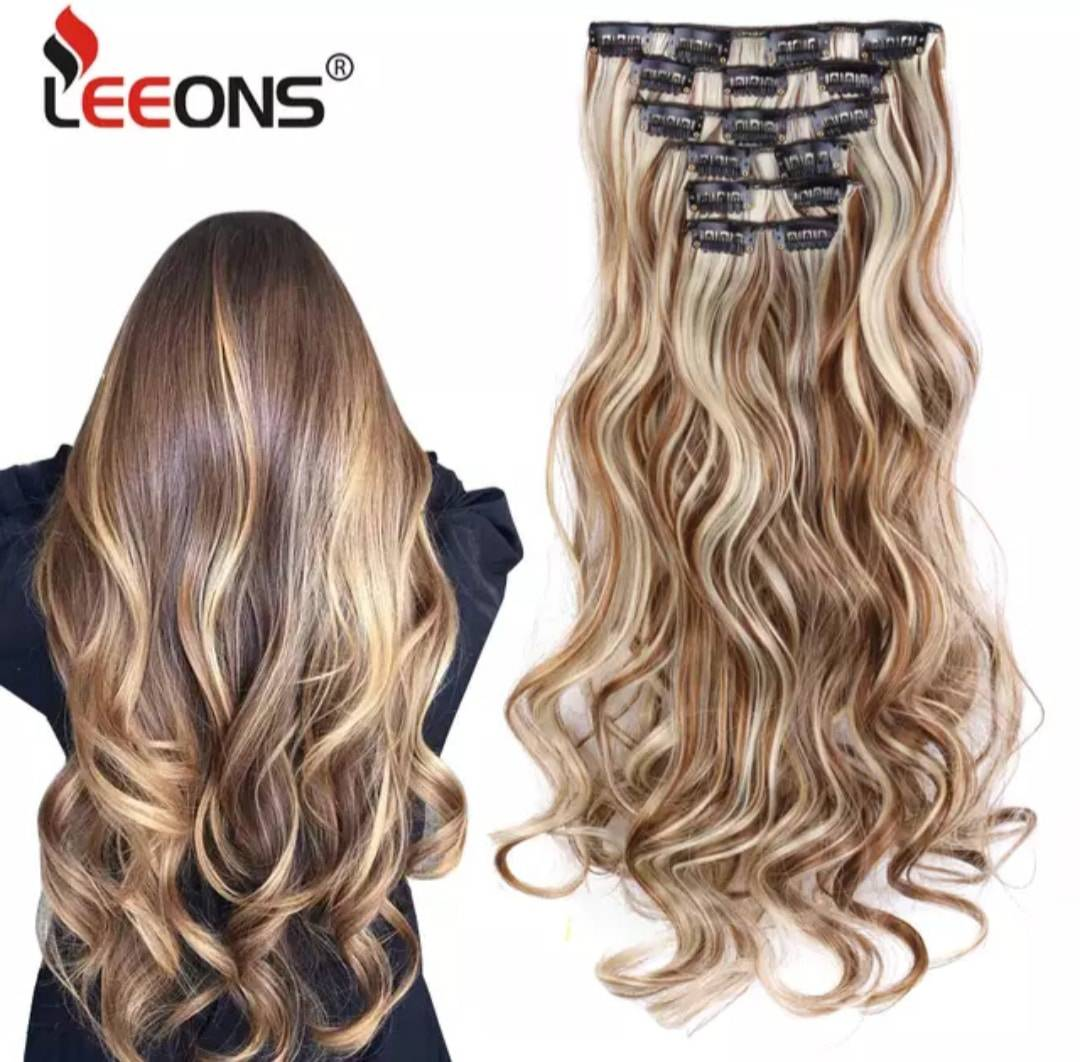 Synthetic 16 Clips In Hair Extensions