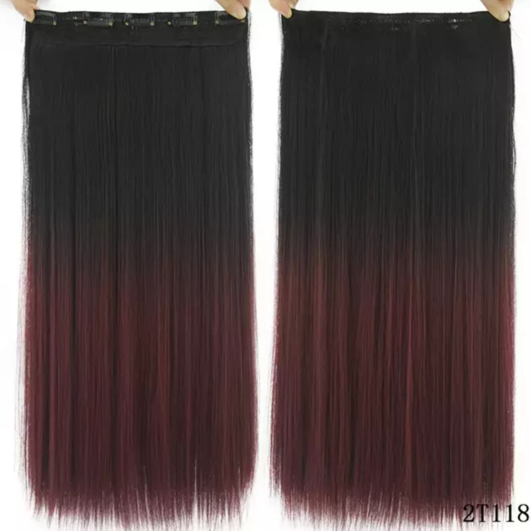 Synthetic Hairpiece Clip in Hair Extensions