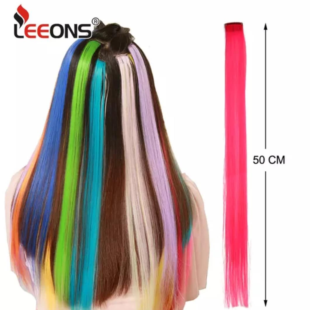 "One Piece Color Strips 20"" Long Straight Hairpiece"