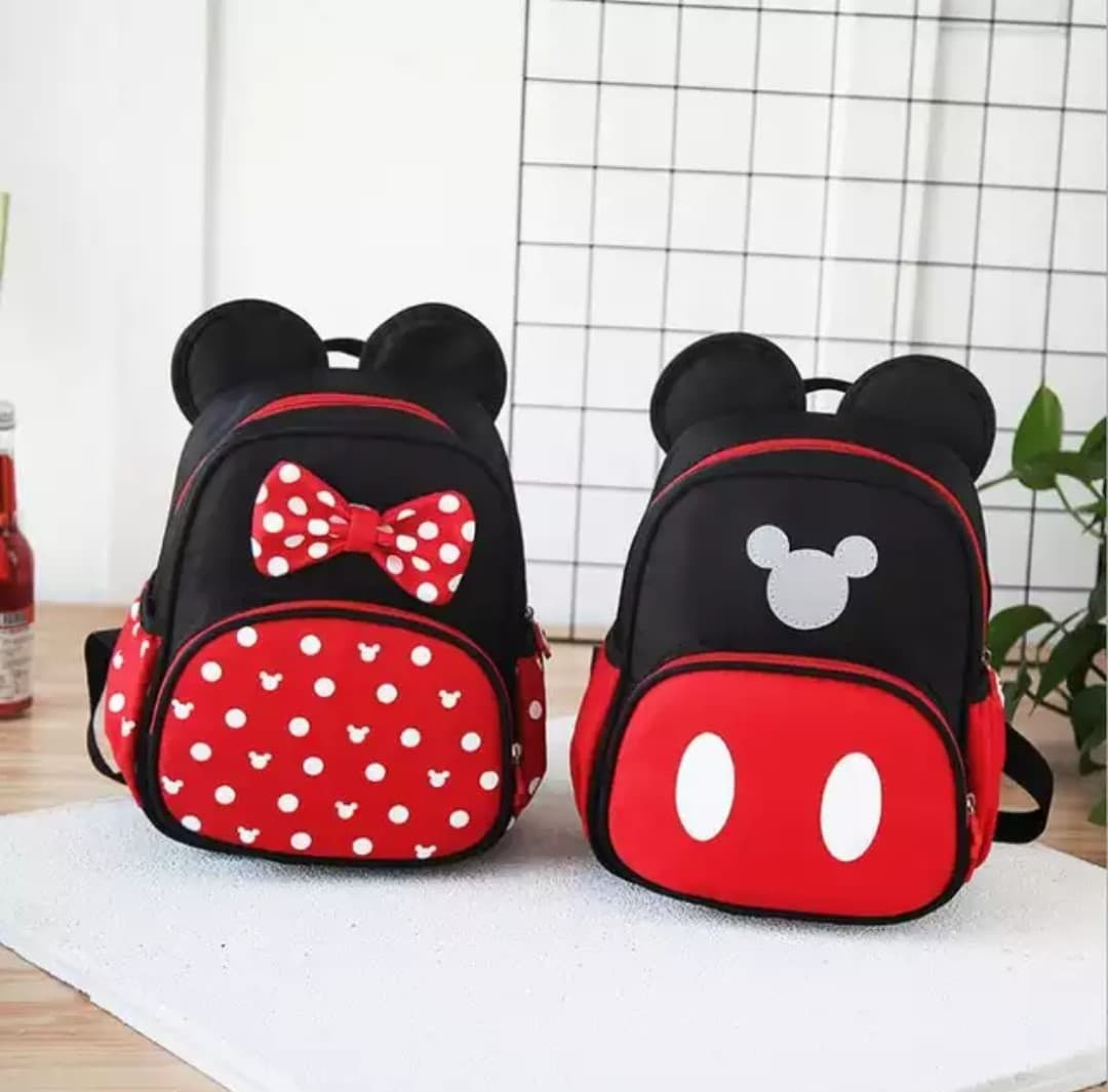 cute mickey backpack for kindergarten