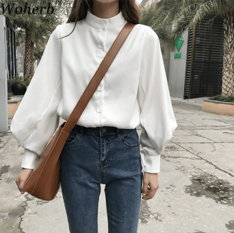 women work clothes white blouse