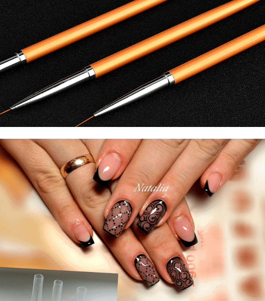 Gold Nail Art Lines Painting Pen Brush