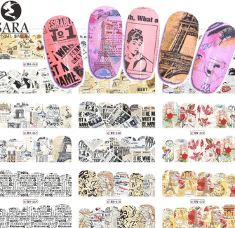 newspaper design nails