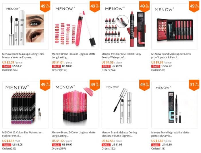 top selling makeups 2019 from china
