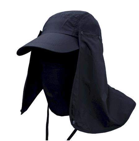 full covered black hat