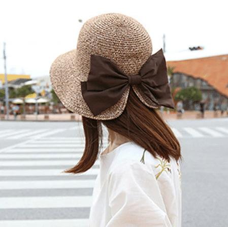 summer ribbon straw hat