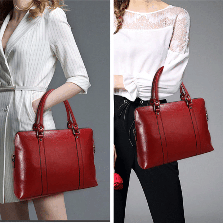 red professional bag for female lawyers