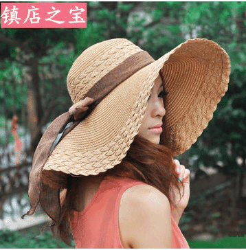 large beach hats for her