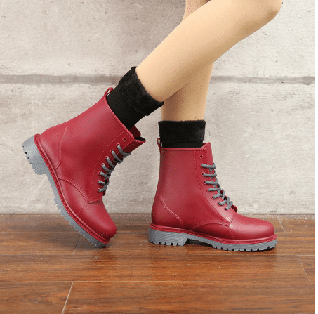 trendy colorful boots for dresses