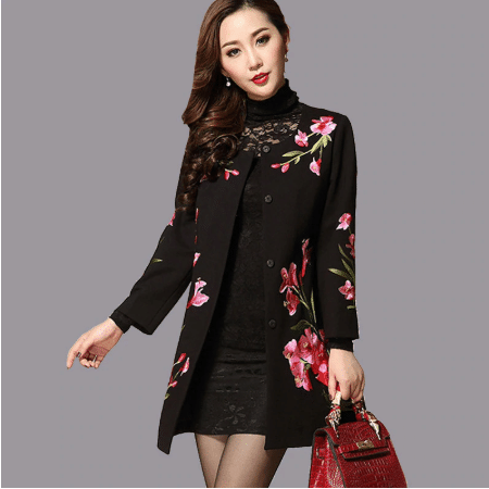 floral winter clothes