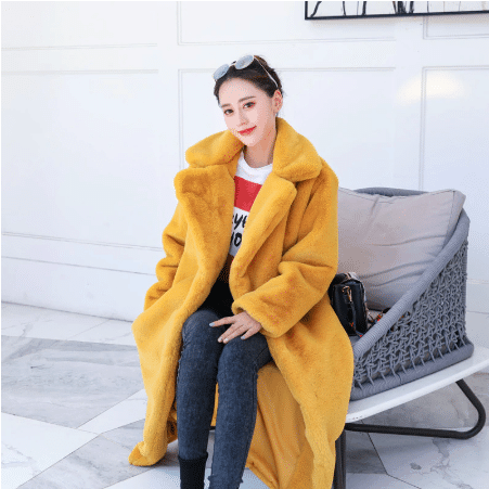 plush women winter coat
