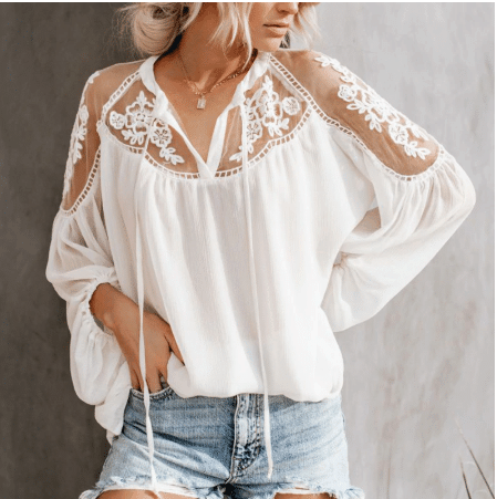 white casual shirt for ladies