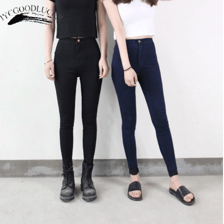 black stretch girls for casual wear