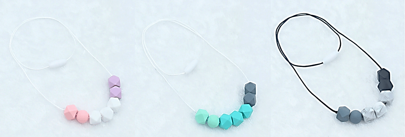 silicone teething necklace for baby