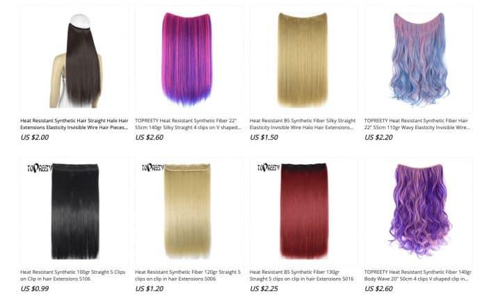 cheap synthetic hair