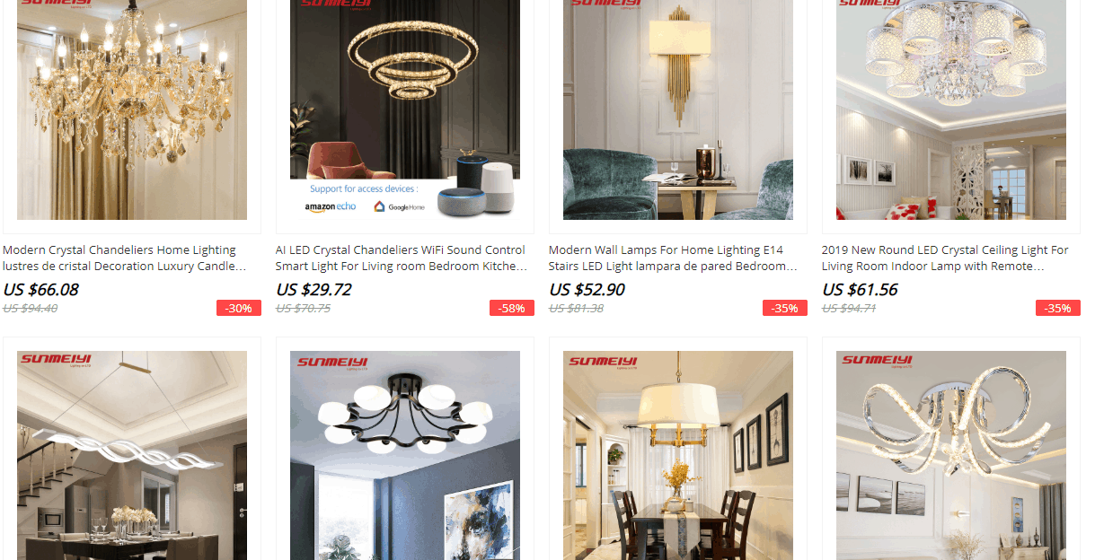 lightings brand aliexpress