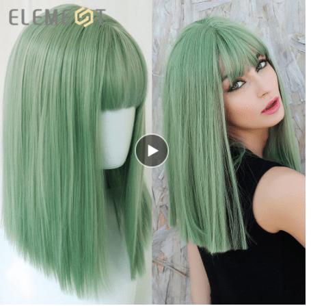 top bob synthetic wig aliexpress