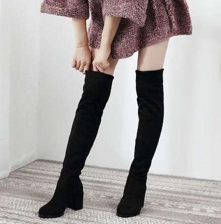 black knee high boots for dress