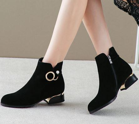 booties for black dress