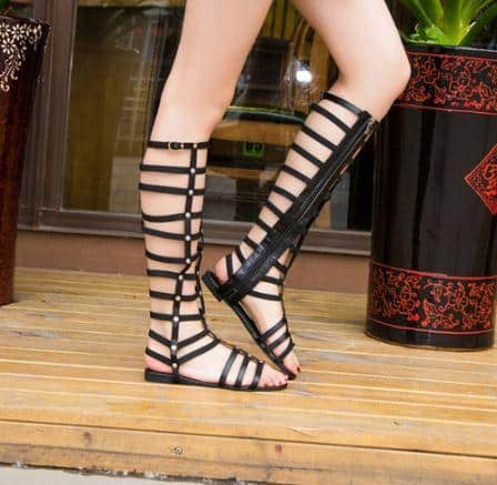 gladiator sandals for black dress
