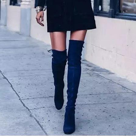 over the knee boots for black dress