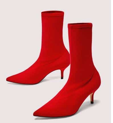 red boots with black dresses