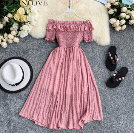 pink dresses ship online from china