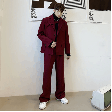 korean look street style men