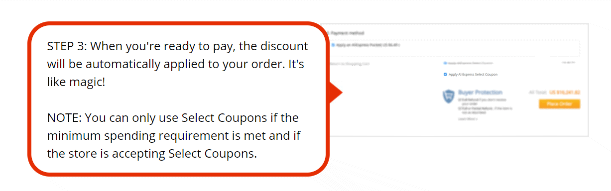 use aliexpress coupon