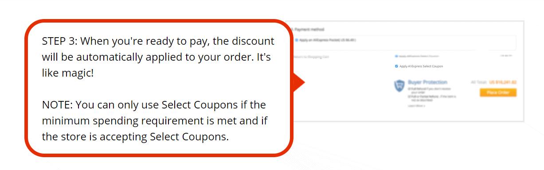 use aliexpress coupon