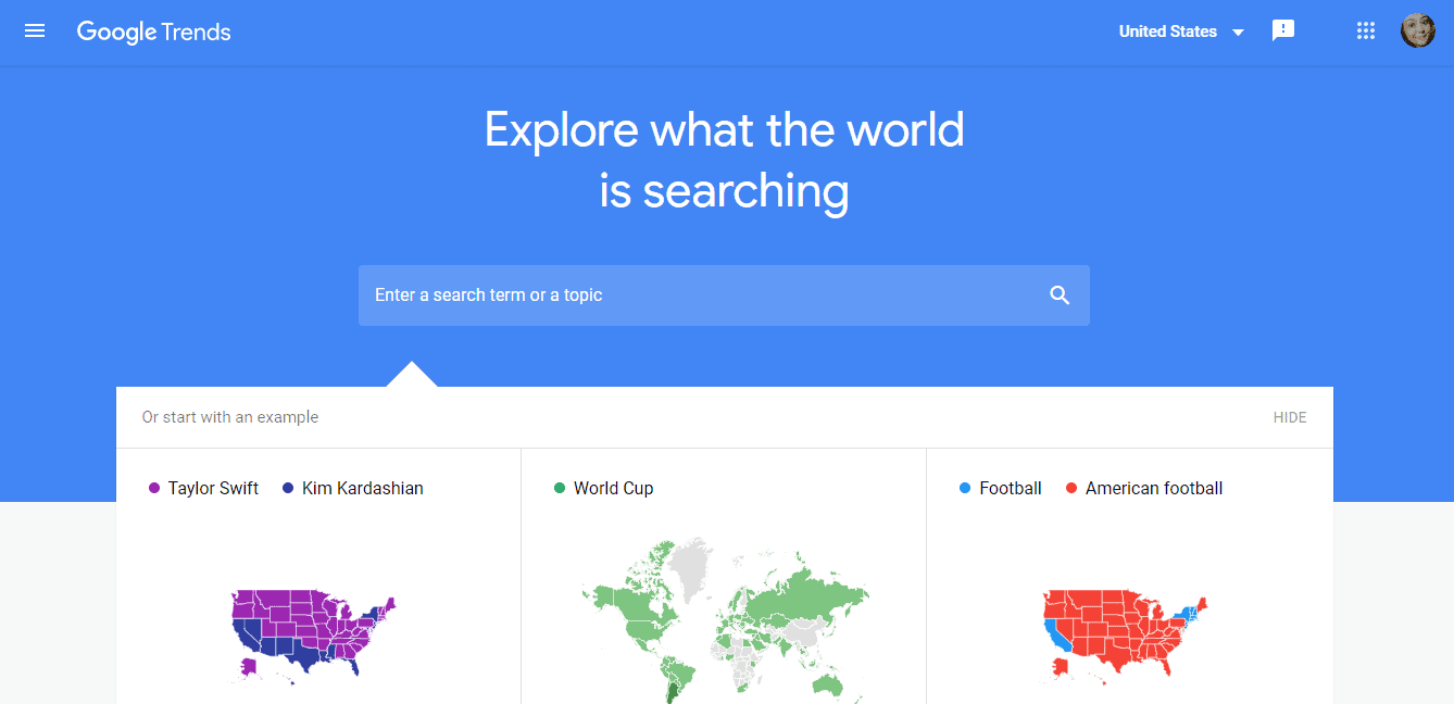 google trend search