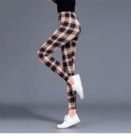 plaid leggings aliexpress
