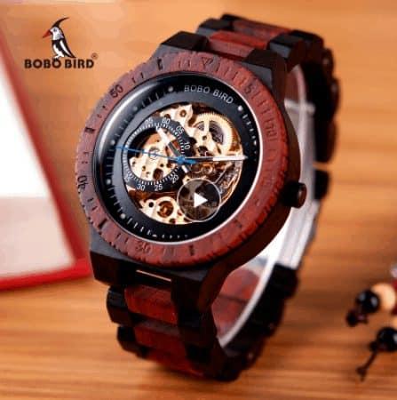 wooden mechanical watch aliexpress