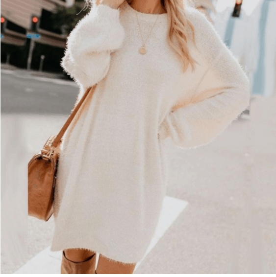 casual dress with tights