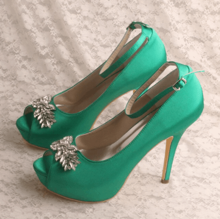 color blocking heels