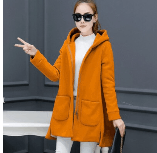 orange outfit for color blocking