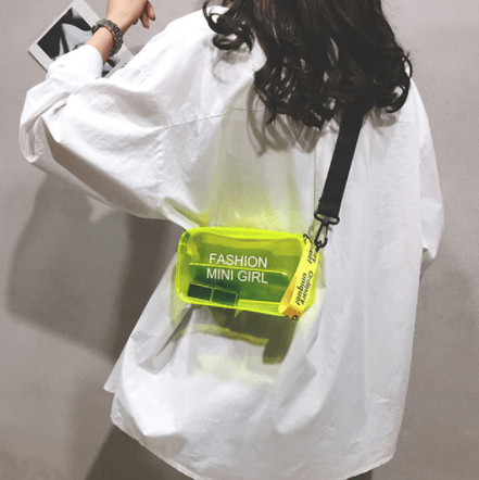 neon color style bag