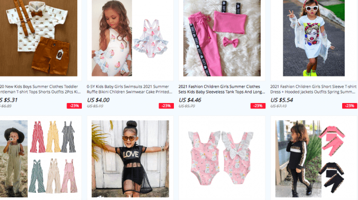 top kids clothing stores aliexpress